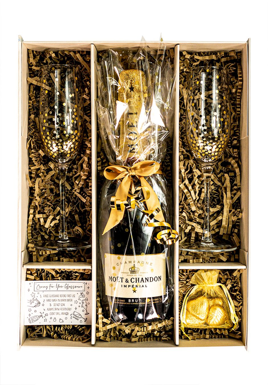 Moet and Chandon   Brut Imperial   75cl   Gold   Sparkleware Gift Set   Keico Drinks