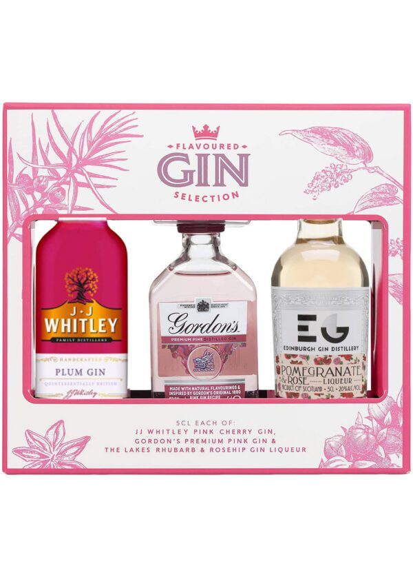 Flavoured Gin Selection | 3 x 5cl | KeiCo Drinks