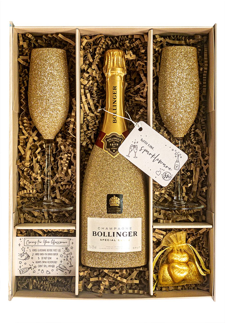 Bollinger | Special Cuvee | 75cl | Gold | Sparkleware Gift Set | Keico Drinks