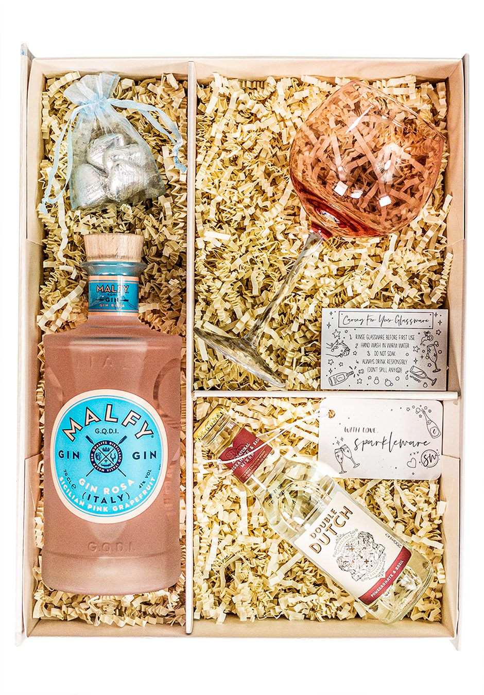 Malfy Gin   Gin Rosa   Sicilian pink grapefruit   70cl   Sparkleware Gift Set   Keico Drinks