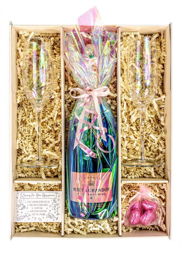 Moet and Chandon Rosé Imperial | 75cl | iridescent | Lustre | Sparkleware Gift Set | Keico Drinks