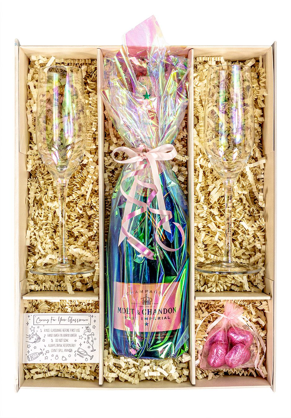Moet and Chandon Rosé Imperial   75cl   iridescent   Lustre   Sparkleware Gift Set   Keico Drinks