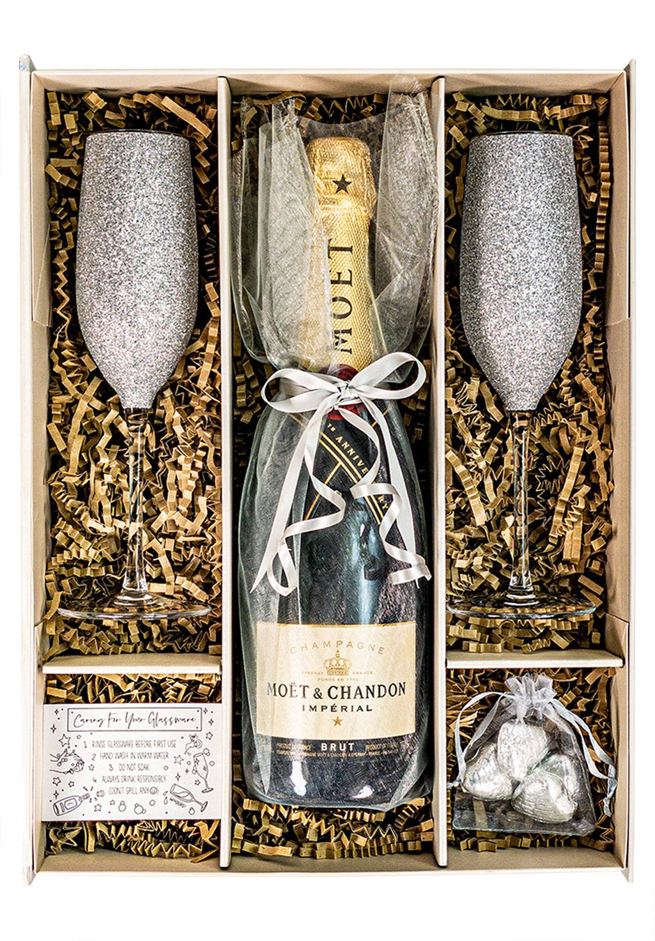 Moet and Chandon | Brut Imperial | 75cl | Silver | Sparkleware Gift Set | Keico Drinks