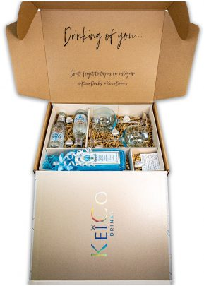 Bombay London Dry Gin 70cl | Blue Gift Set | With matching Gin Glasses, Tonics | and Belgian Chocolates | KeiCo Drinks