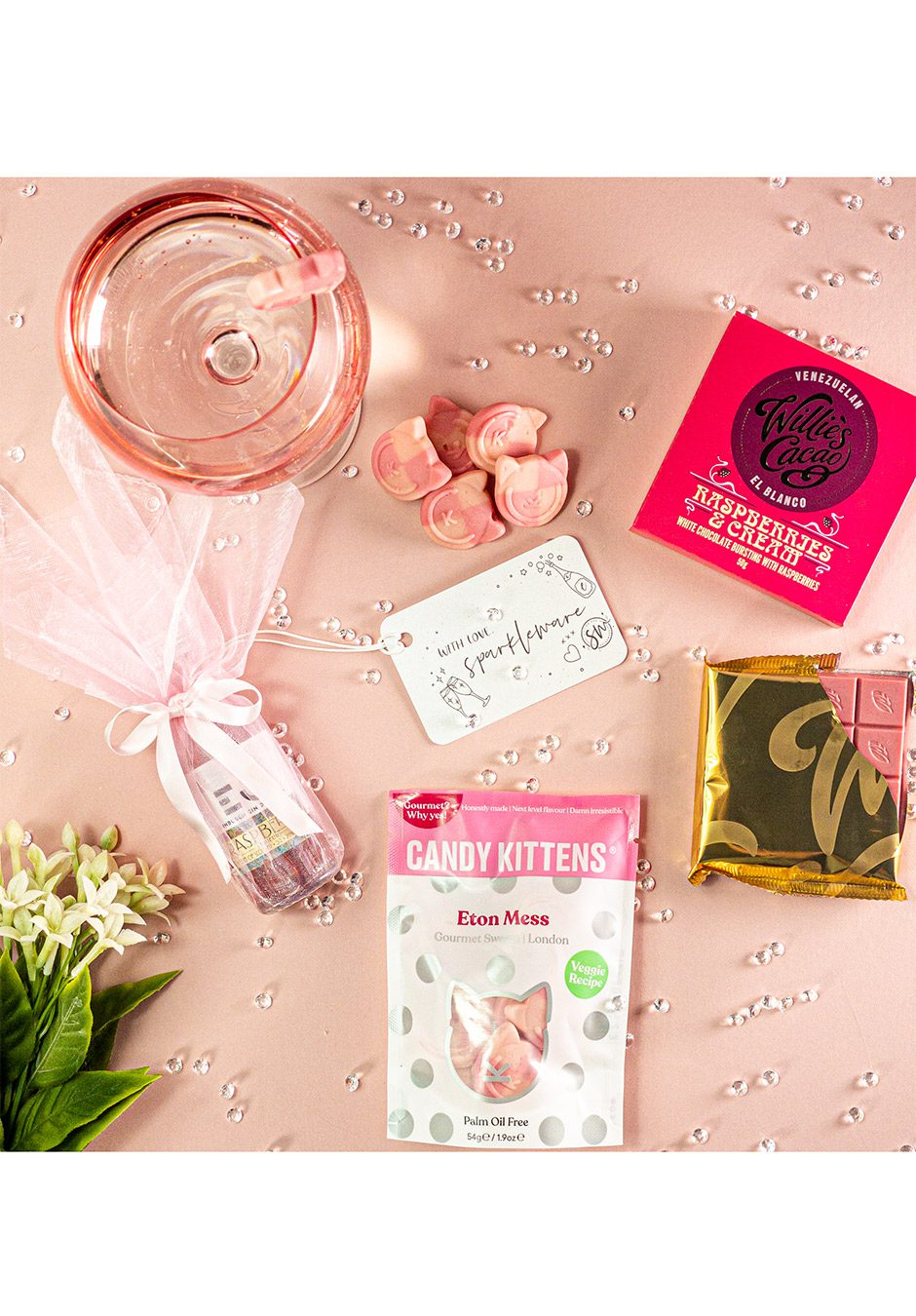 Berrylicious Pink Gin   Sparkleware Gift Set   KeiCo Drinks
