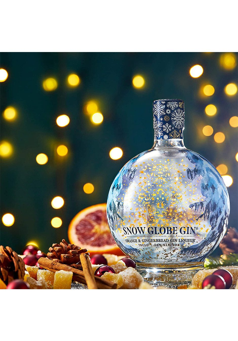 Snow Globe Gin 70cl   Orange And Gingerbread Liqueur   KeiCo Drinks