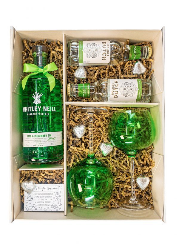Whitley Neill | Aloe & Cucumber 70cl | Sparkleware Gift Set | KeiCo Drinks