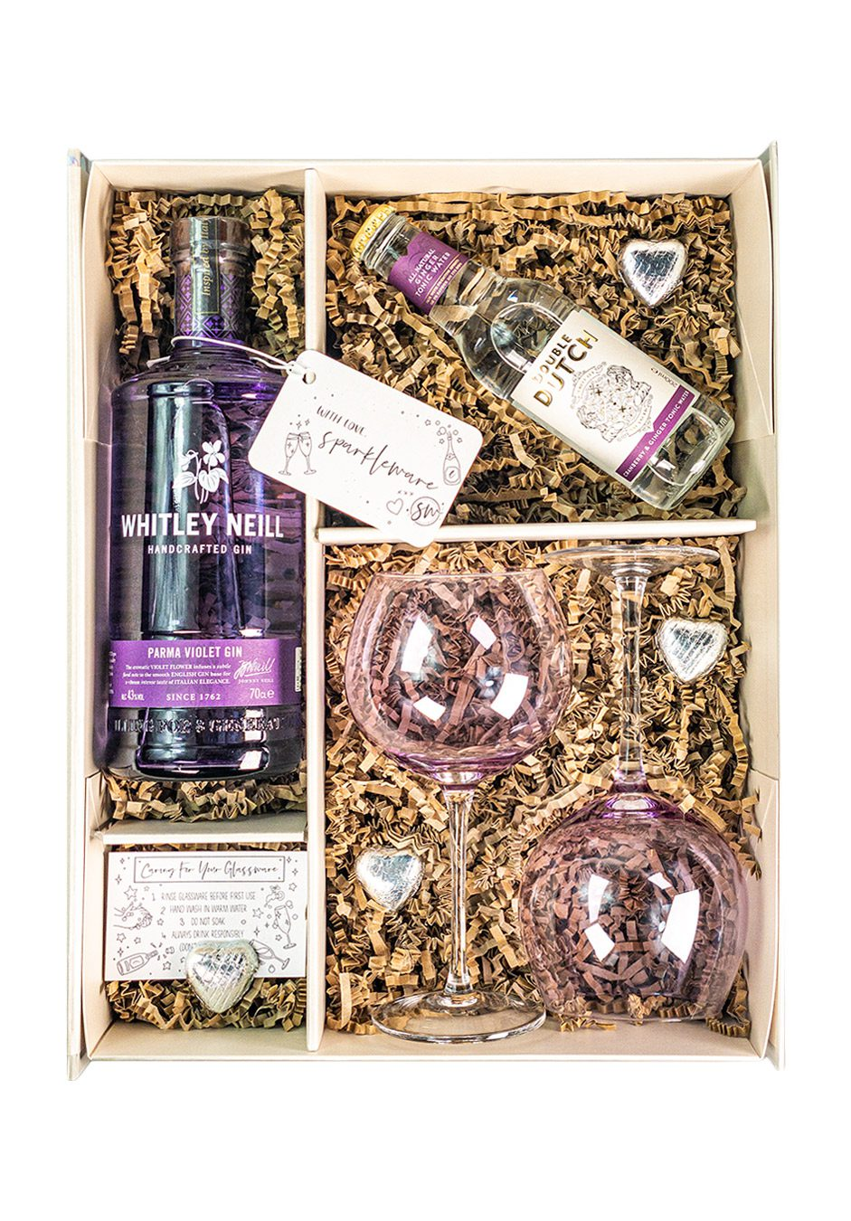Whitley Neill   Parma Violet 70cl   Sparkleware Gift Set   KeiCo Drinks