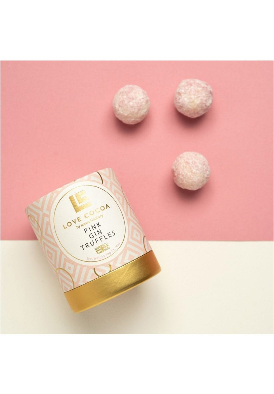 Love Cocoa | Pink Gin Truffles 50g | KeiCo Drinks