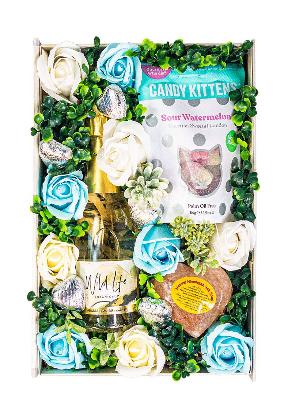 Sweet Wild & Free Blue Floral Gift Set 20cl | Low Alcohol | Gift Set | Keico Drinks