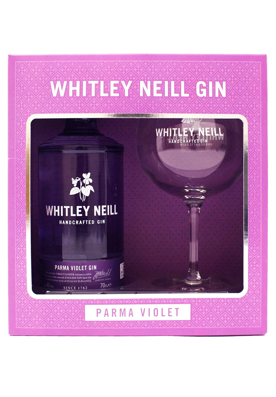 Whitley Neill Parma Violet   70cl Gift Set   KeiCo Drinks