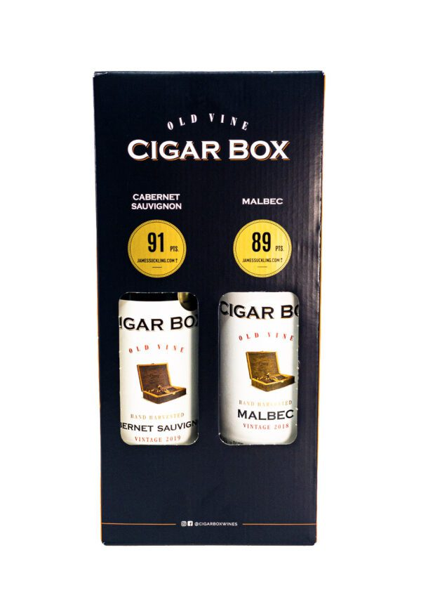 Old Vine Cigar Box   Red Wine   Duo Gift Pack   KeiCo Drinks