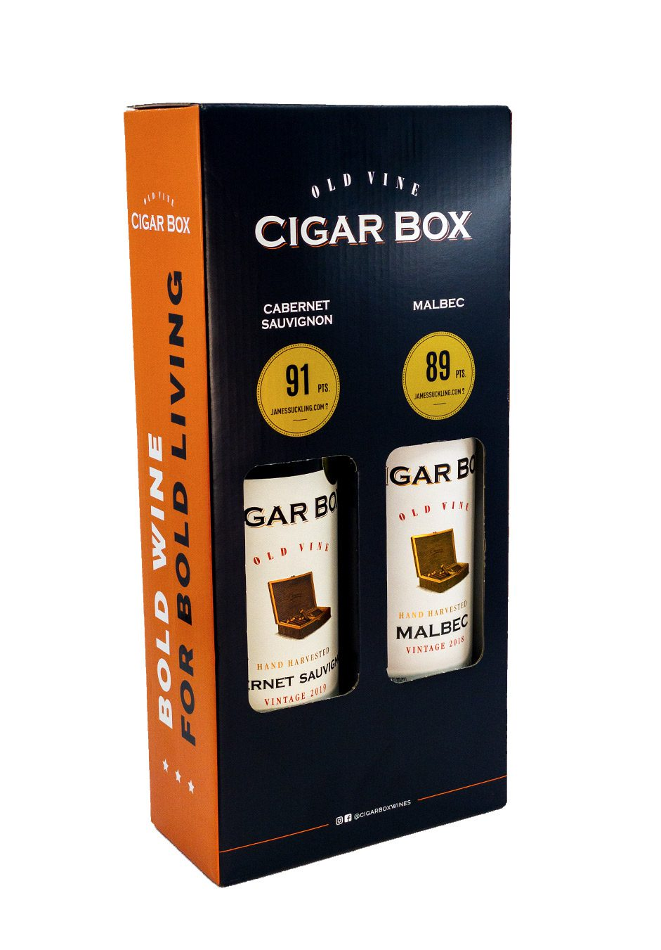 Old Vine Cigar Box | Red Wine | Duo Gift Pack | KeiCo Drinks